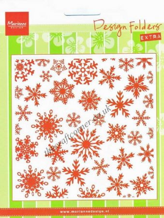 Ice Crytals Or Snowflakes Design Embossing Folder by Marianne Design